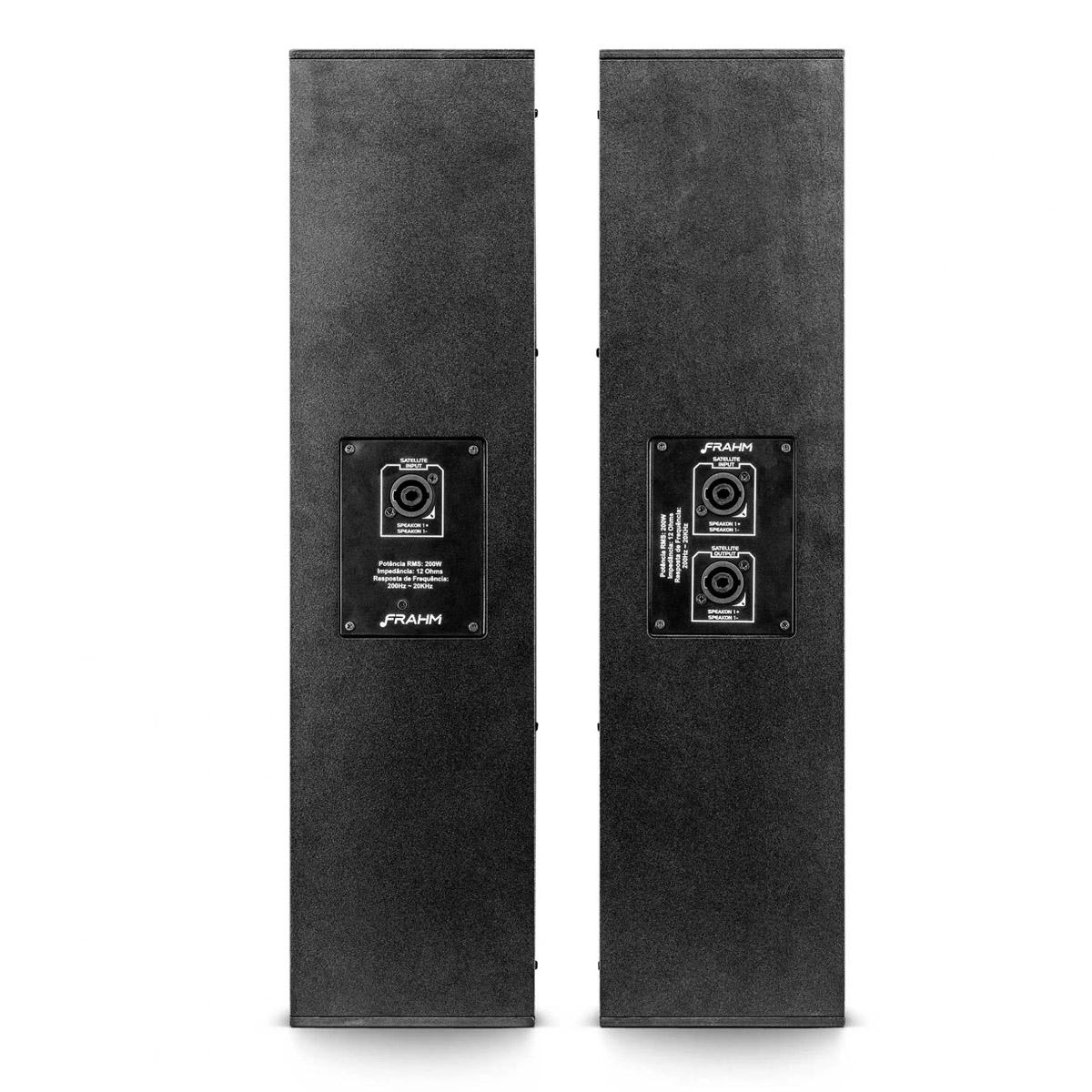 Sistema Caixa P.A Torre + Sub Ativa 1000W FRAHM GRT15APP