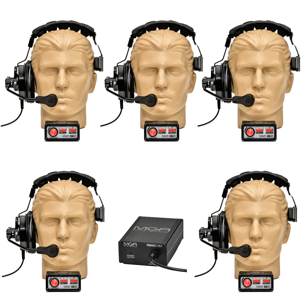 Sistema de comunicação com 5 pontos MGA Pro Audio SI50