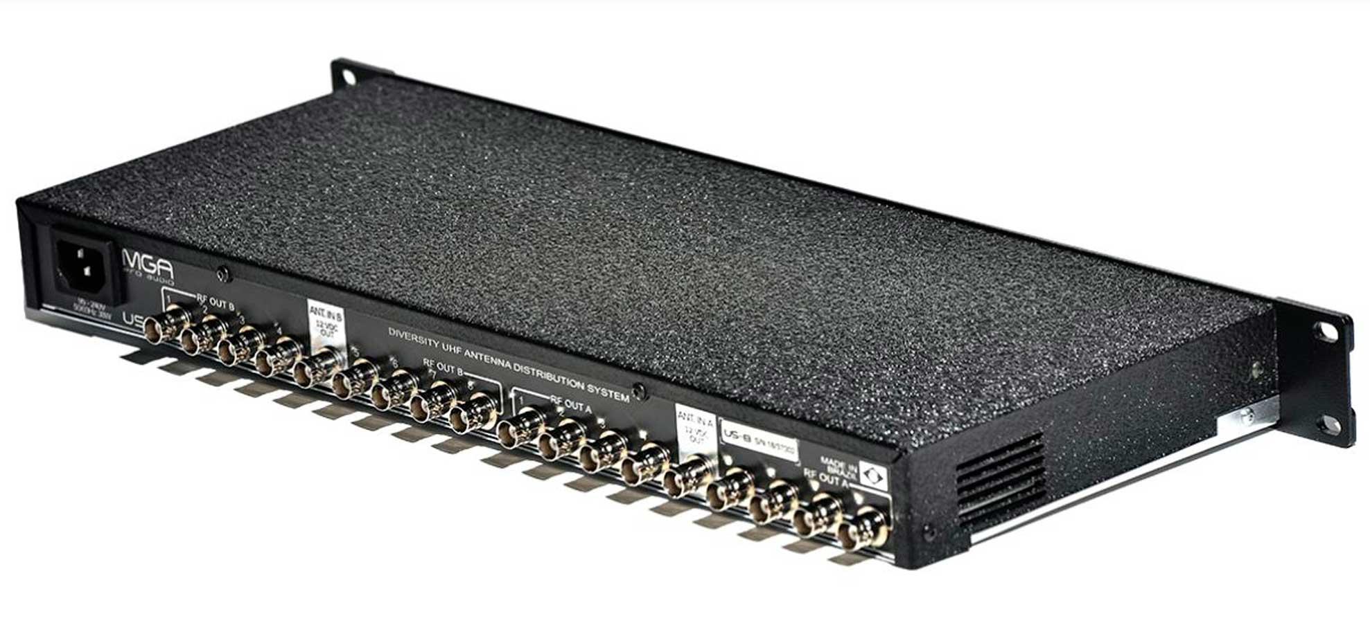 Sistema de distribuição RF para microfone UHF de 470 ~ 952 MHz | MGA Pro Audio | US-8 2100 A-1