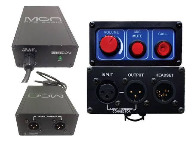 Sistema De Intercomunicação Com Fio Fonte + Receptor Mga
