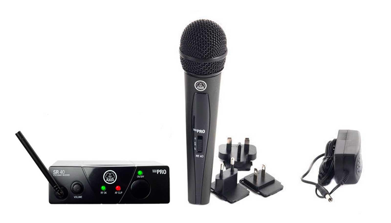 Sistema de microfone sem fio, cardioide e frequência US25B 537.900 MHz | WMS40 Mini Vocal Set | AKG
