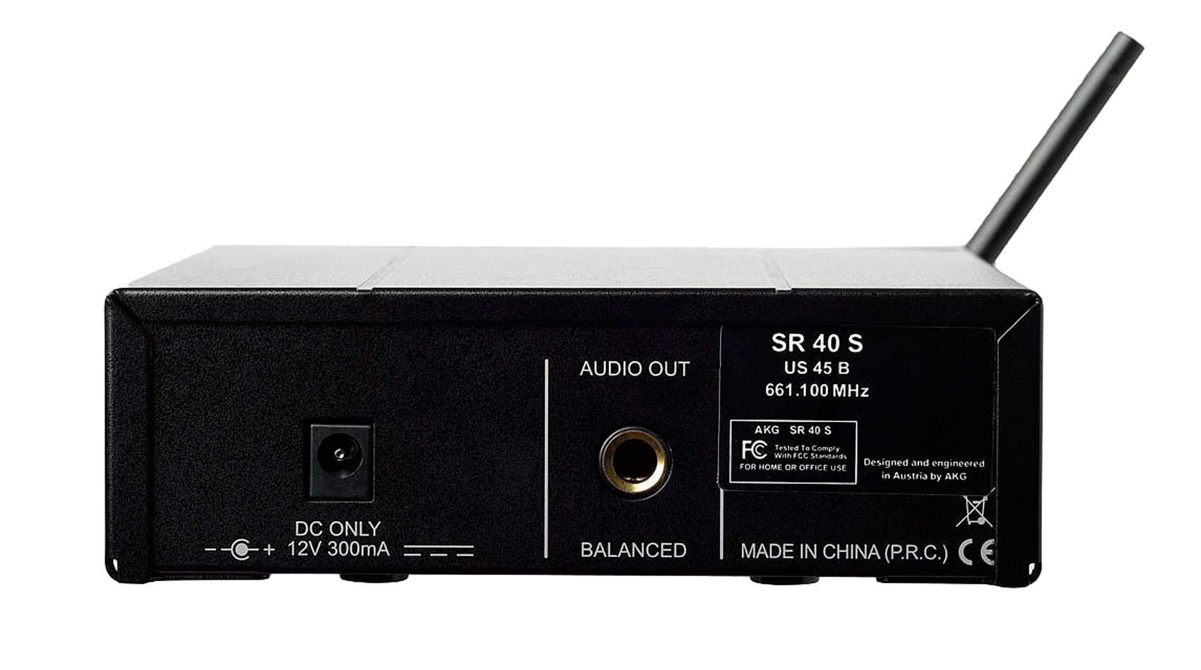 Sistema de microfone sem fio, cardioide e frequência US25A 537.500 MHz | WMS40 Mini Vocal Set | AKG