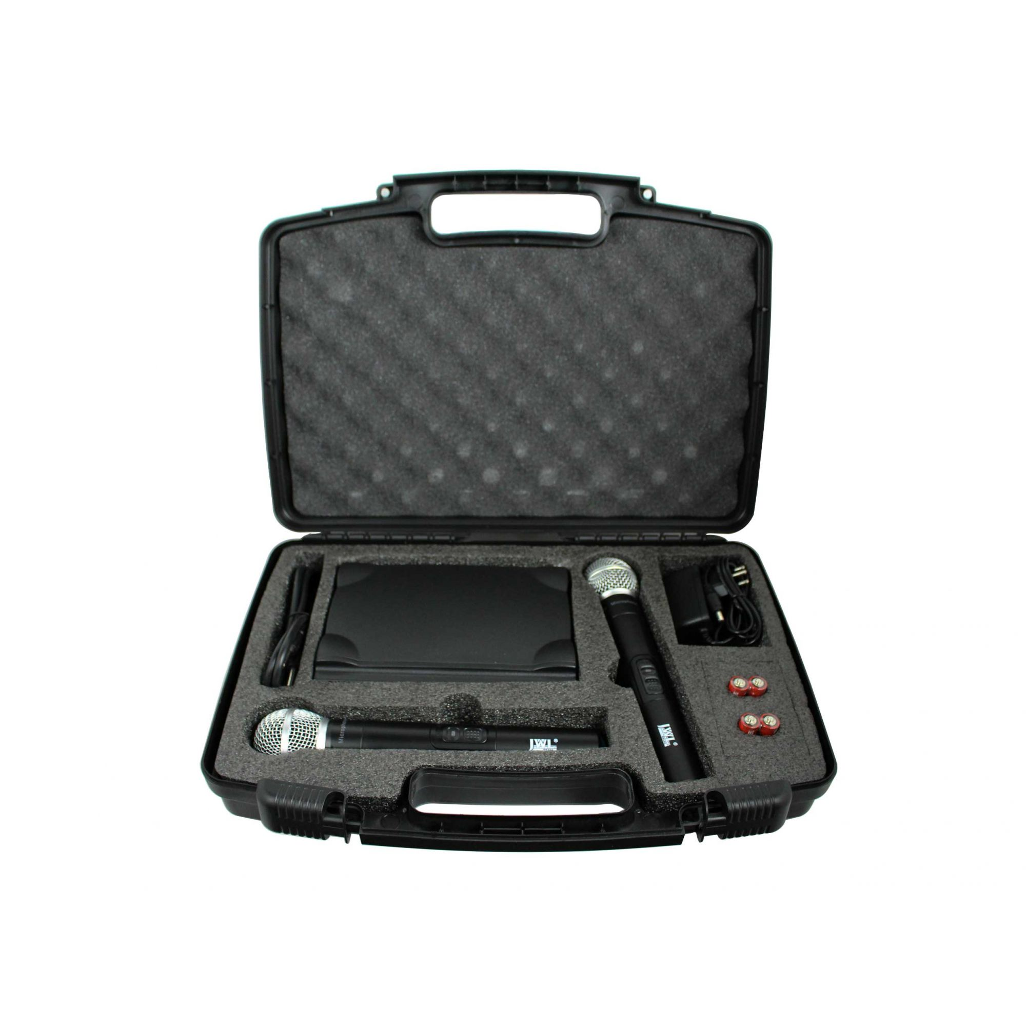 Sistema de microfone sem fio duplo de mão UHF dinâmico | JWL | U585MM