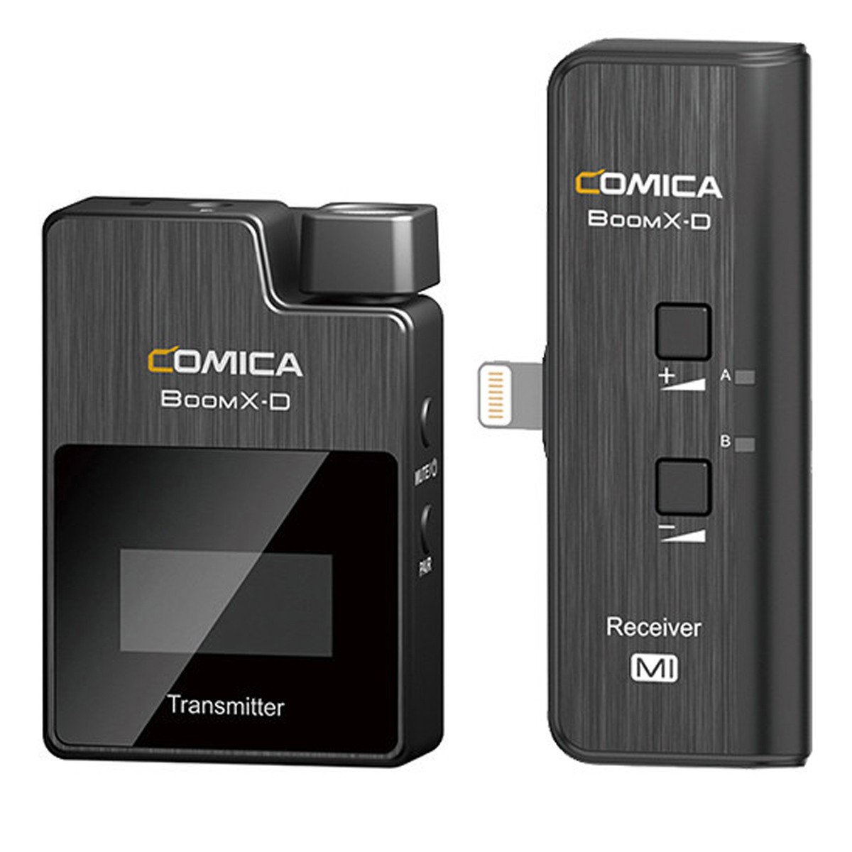 Sistema de Microfone sem fio para Iphone Comica BoomX-DMI1