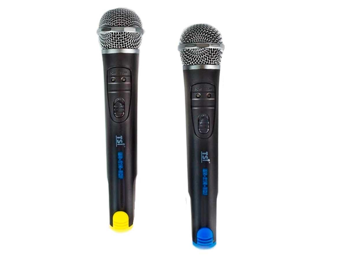 Sistema de microfone sem fio UHF | 2 Microfones Cardioide de mão | TSI | MS215-UHF