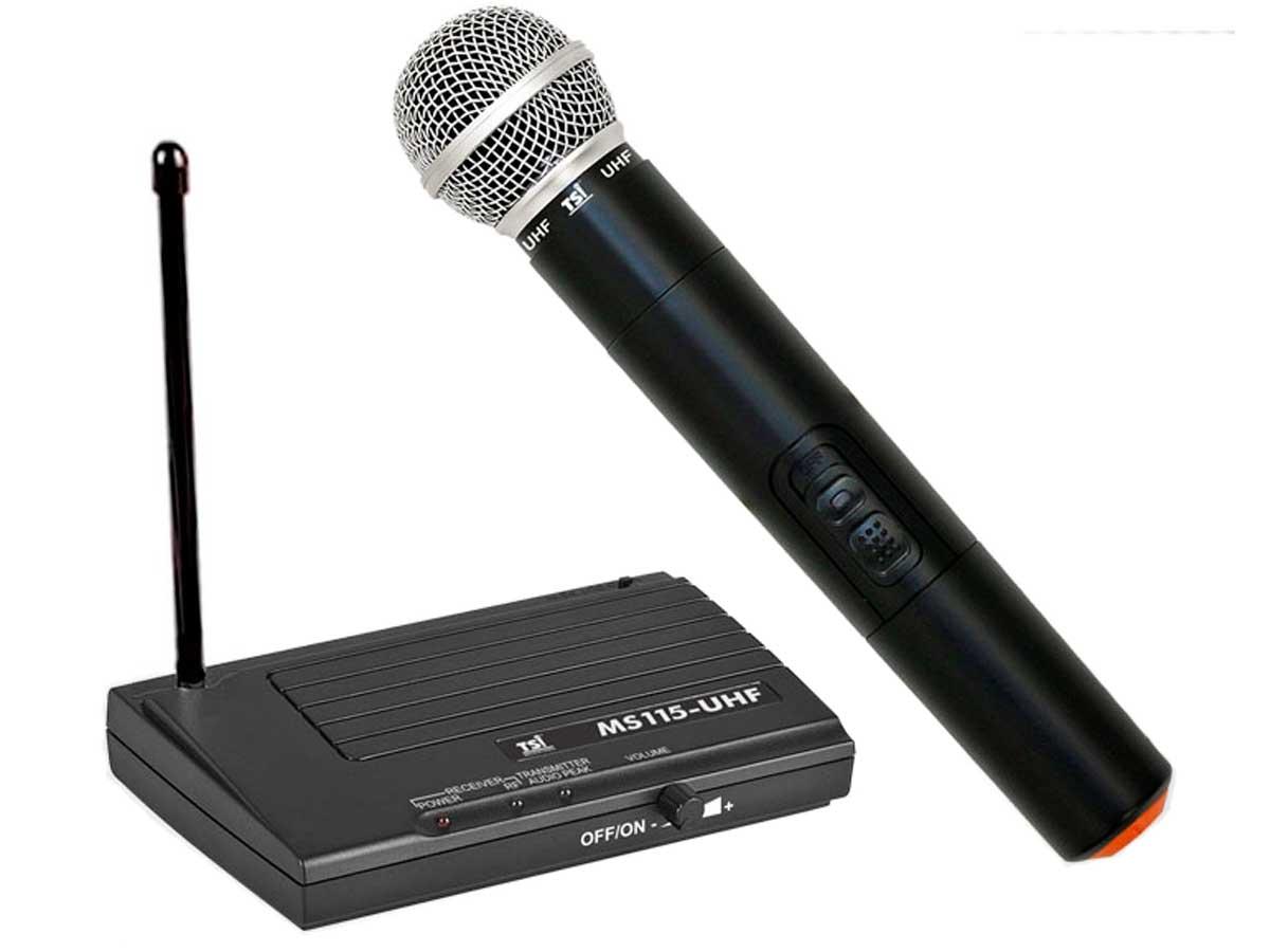 Microfone sem fio UHF de Mão TSI MS115-UHF