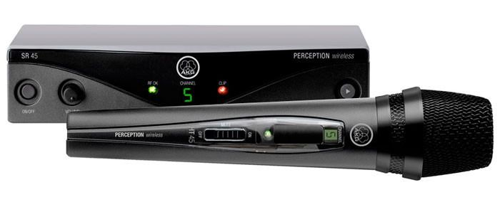 Sistema sem fio com microfone de mão Perception P45 e Frequência A 530-559 MHz | P45VOCAL | AKG