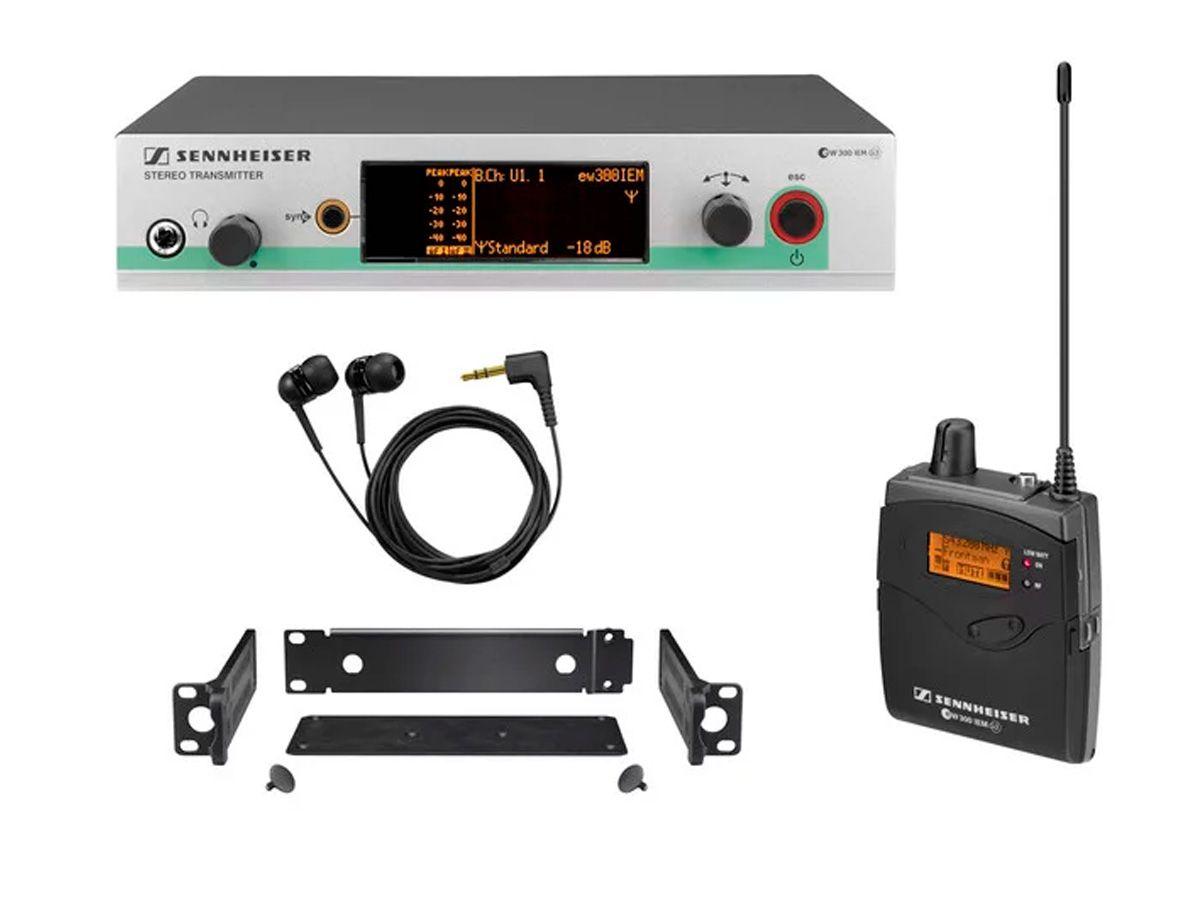 Monitoração sem fio 626-668 MHz Sennheiser ew300 IEM G3