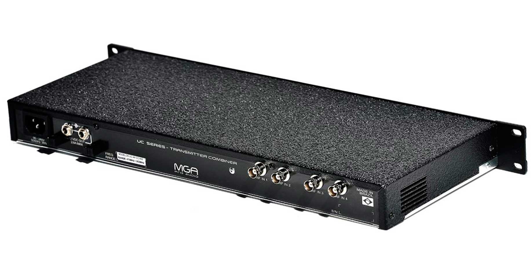 Sistema de RF para IEM | 1 Combiner, 1 Antena e 1 cabo 10 metros | MGA Pro Audio | UC-44 2100 A-1
