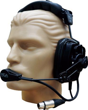 Sistema Intercomunicação Com Fio Fonte Receptor Fone Mga