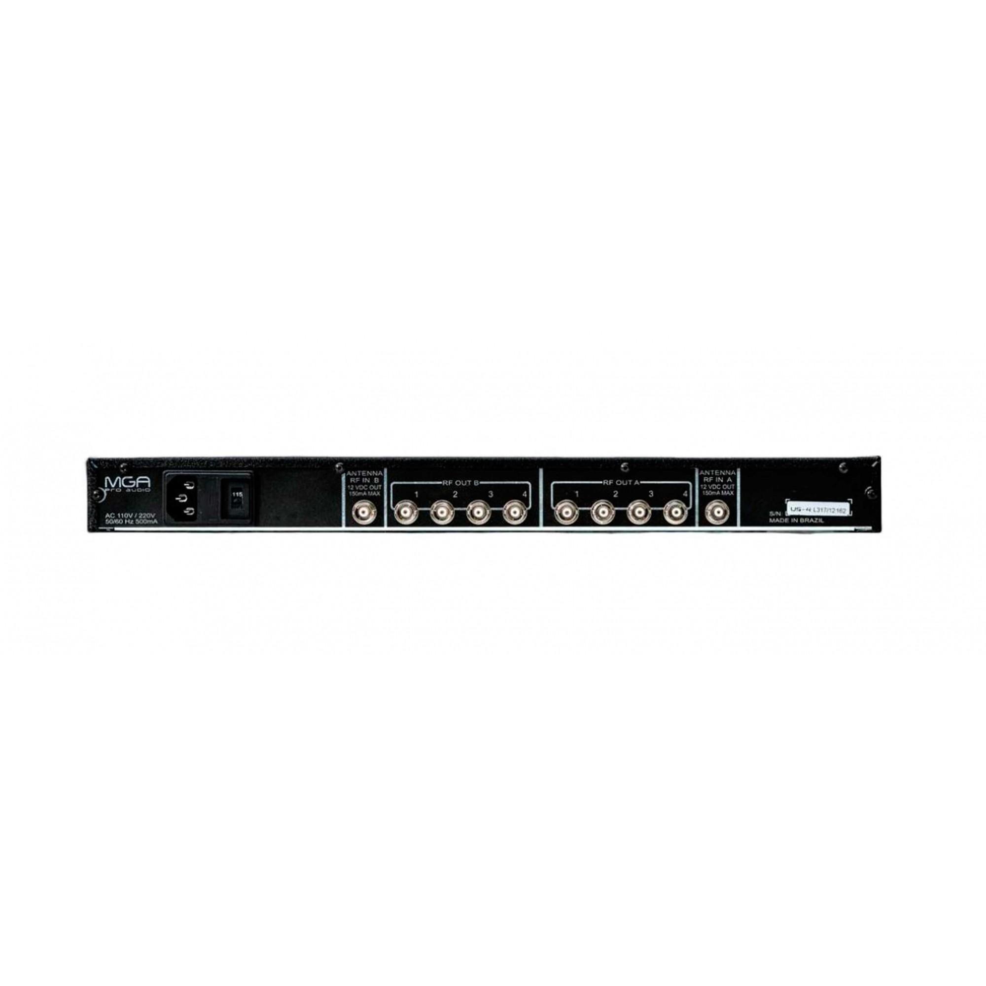 Sistema RF Microfone - 1 US4 + 2 A1 MGA Pro Audio
