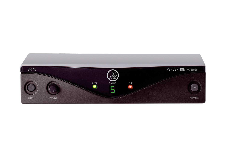 Sistema sem fio com microfone de lapela e banda de frequência U2 614 - 629 MHz | AKG | P45L