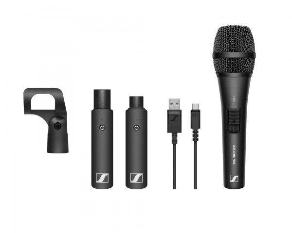 Sistema Sem Fio com Microfone de Mão Sennheiser XSW-D Vocal Set Wireless Digital XLR (2.4 GHz)