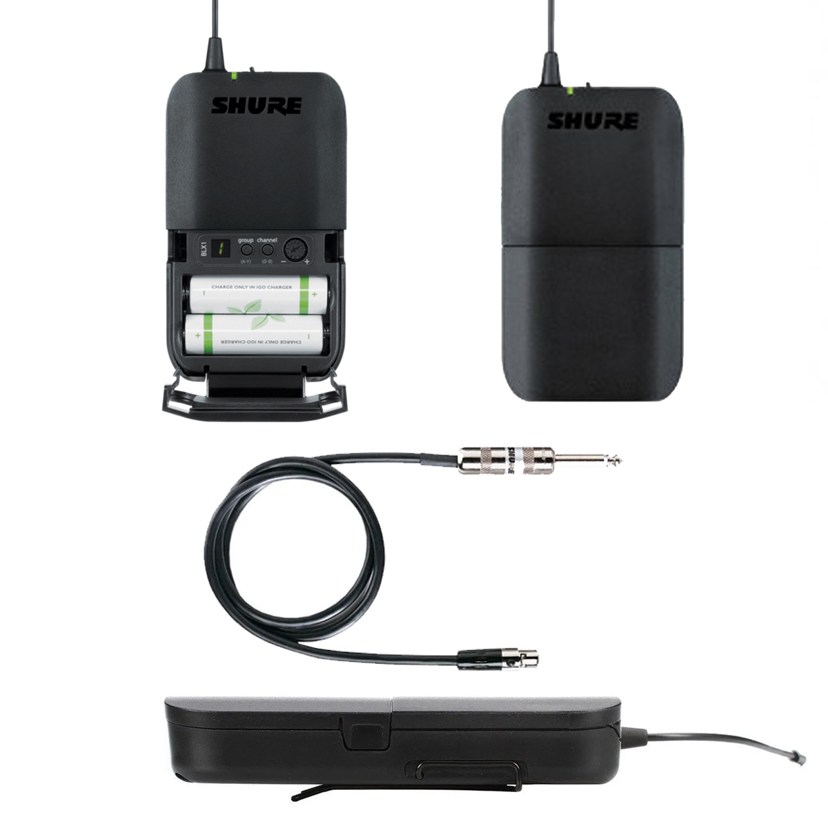 Sistema sem fio para Instrumentos SHURE BLX14BR-M15