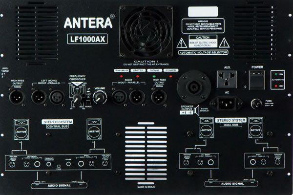 Sub Grave ativo com 600W RMS e alto-falante de 15 polegadas   Antera   LF1000AX