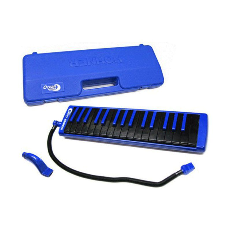 Teclado de sopro, escaleta melódica de 32 teclas Azul | De F3 até C6 | Hohner | Ocean Melódica