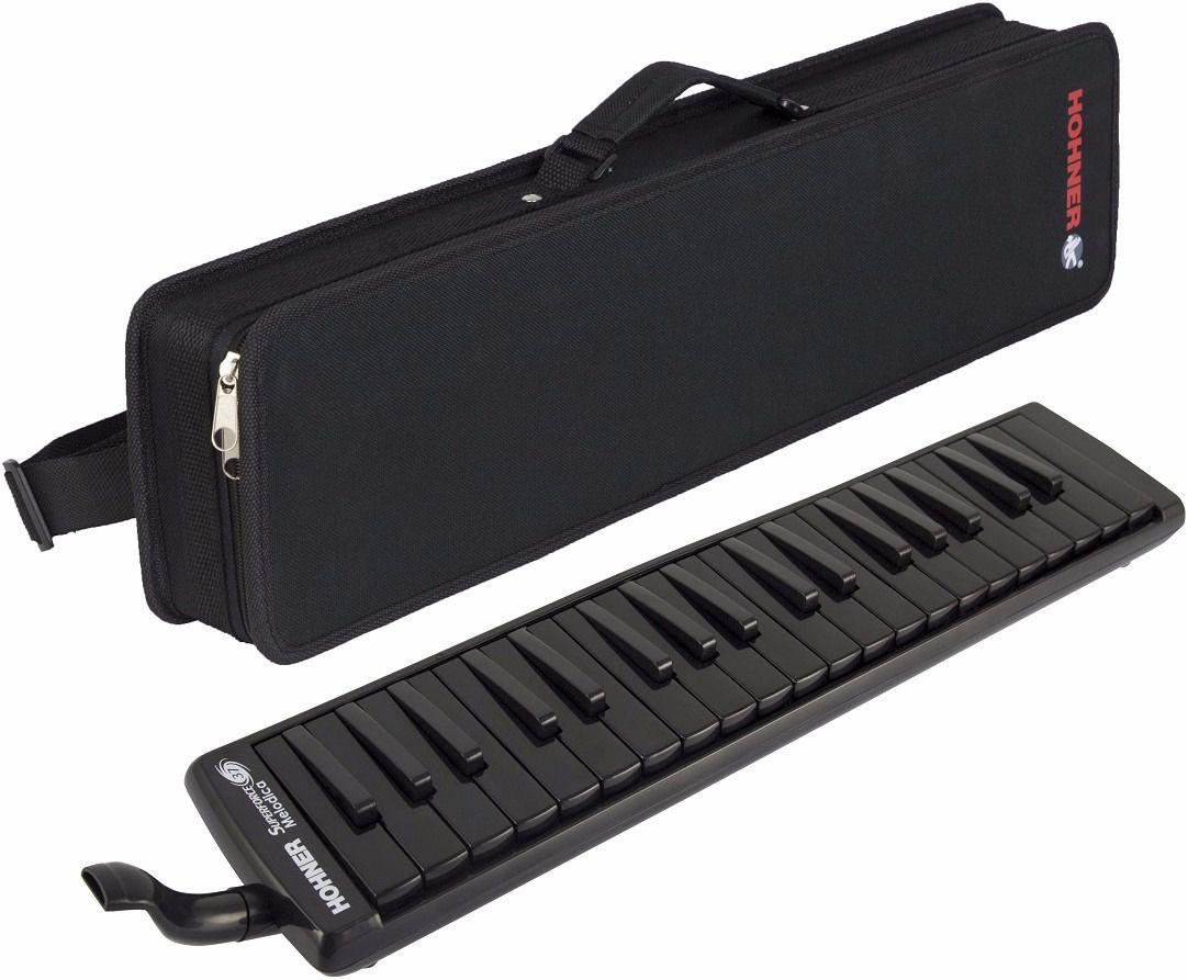 Teclado de sopro, escaleta melódica de 37 teclas Preta | De F até F| Hohner | Superforce 37 Melodica