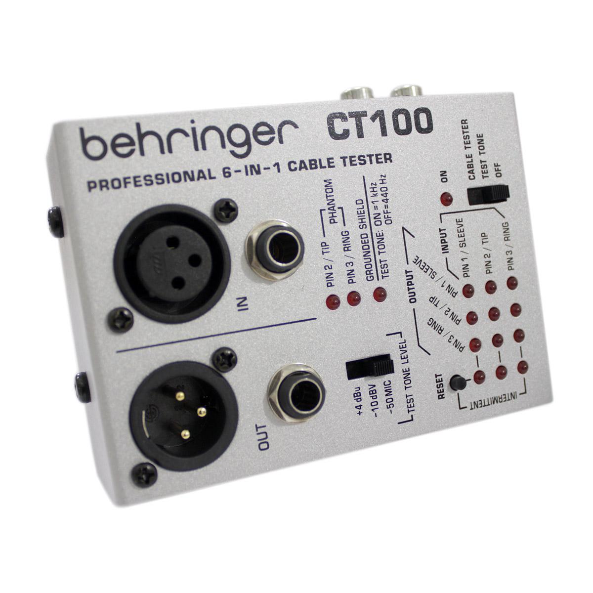 Testador de Cabos com 3 Modos de teste Behringer CT100