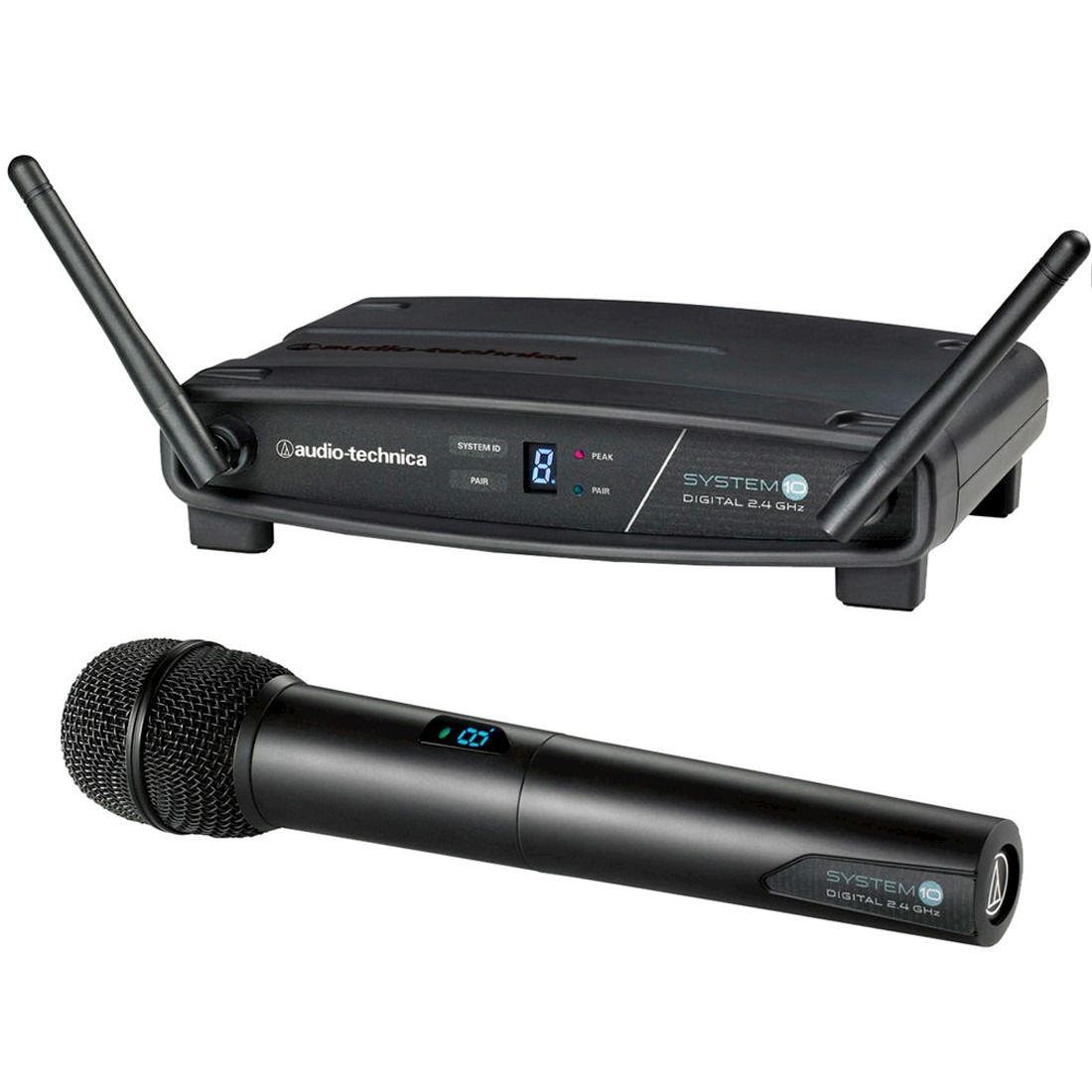TRANSMISSOR COM RECEPTOR SEM FIO BASTAO AUDIO-TECHNICA ATW-1102 - FREQ. 2.4 GHZ