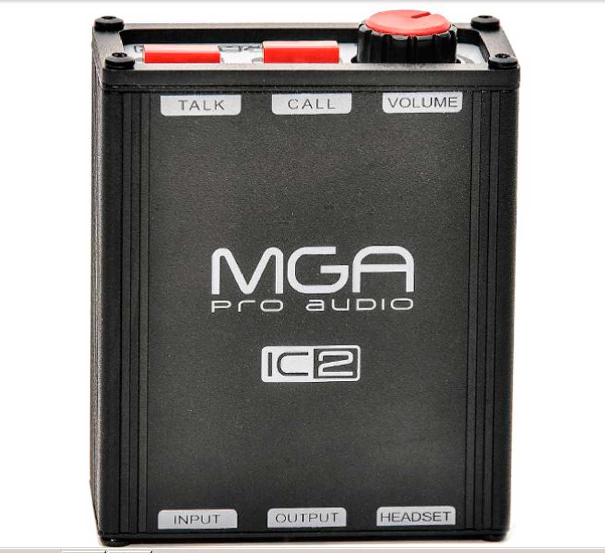 Unidade de cinto para sistema de comunicação com volume, call e talk | MGA Pro Audio | IC-2