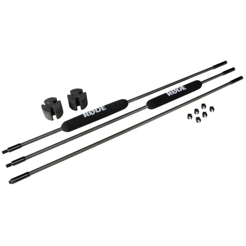 Vara de Boom hiper leve para microfone pequeno, comprimento 80 cm a 2.40 metros | RODE | Micro Boompole Pro