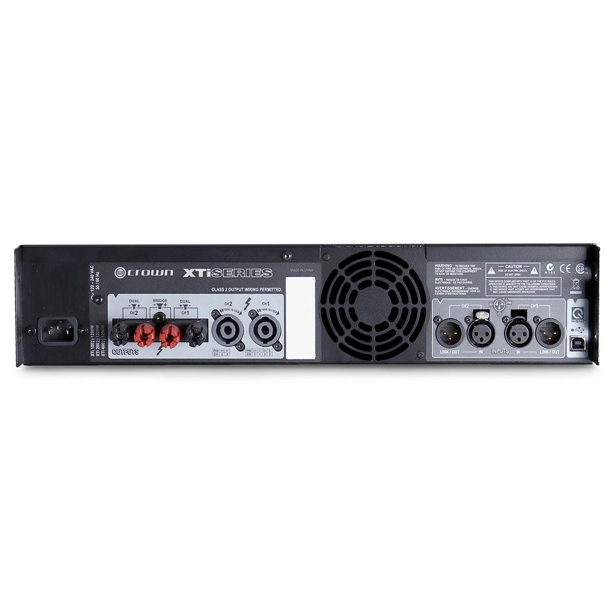 Amplificador de potência de dois canais CROWN XTI4002