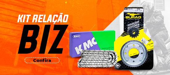 KIT RELAÇÃO HONDA BIZ 100 (TODOS OS ANOS) (DURAG + KMC)