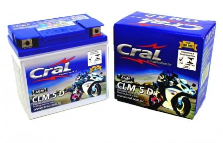 BATERIA BIZ100/125 KS- NXR BROS125/150 KS ORIGINAL CRAL (CLM5D-YTX5LBS)