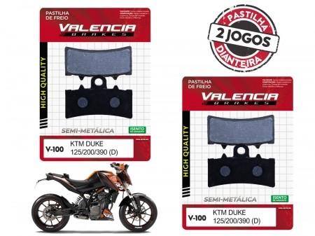 KIT 02 JOGOS DE PASTILHAS DE FREIO DIANTEIRA KTM DUKE 125CC 2011...  VL BRAKES(V100-FJ2630)