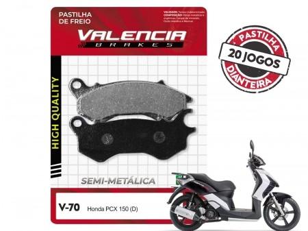 KIT 20 JOGOS DE PASTILHAS DE FREIO DIANTEIRO DAFRA CITYCLASS 200i VL BRAKES(V70-FJ2590)
