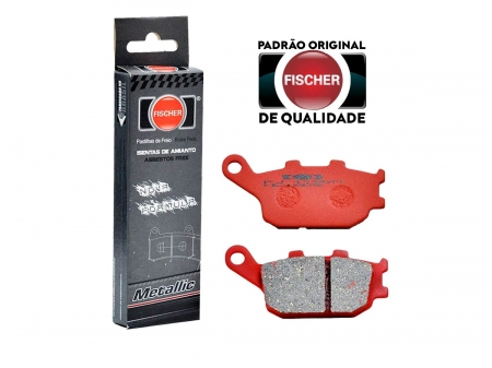 PASTILHA DE FREIO TRASEIRO HONDA CB 300 C/ABS (TODOS OS ANOS) FISCHER(FJ1150)