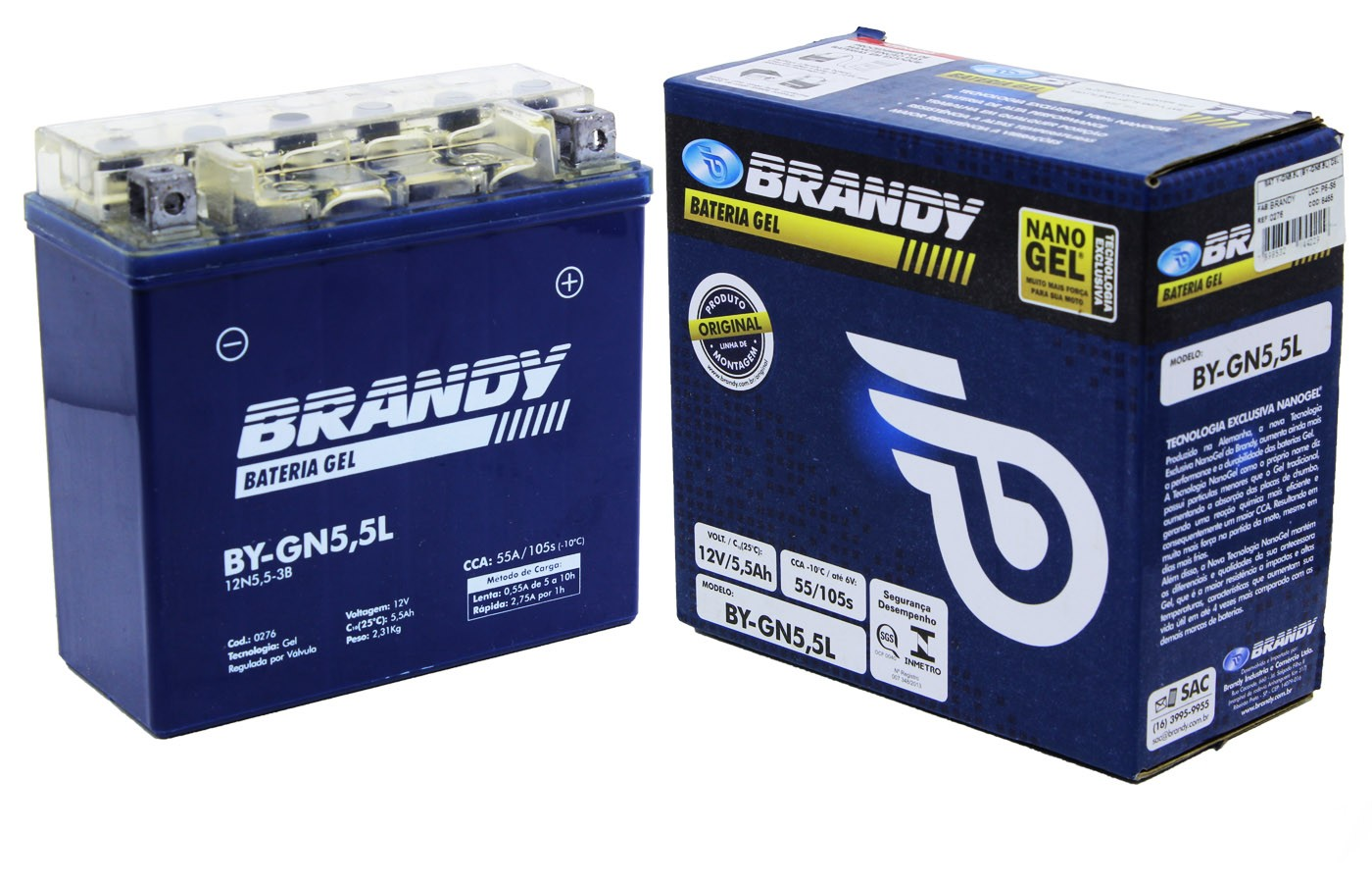 BATERIA AGRALE ELEFANT 16.5/ 27.5  BRANDY GEL (BY-N5.5L-B)