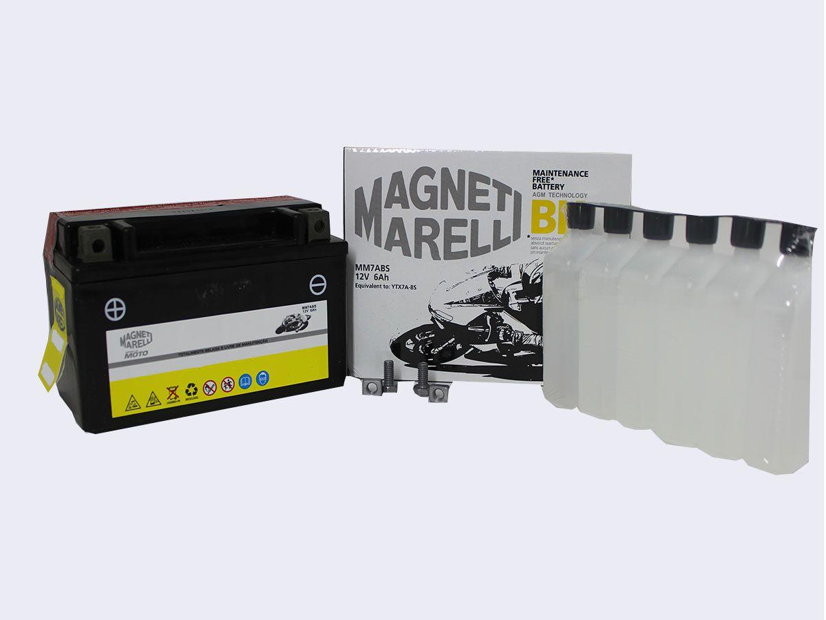BATERIA AGRALE LEGION 125 ORIGINAL  MAGNETI MARELLI MM7ABS (YTX7A-BS)