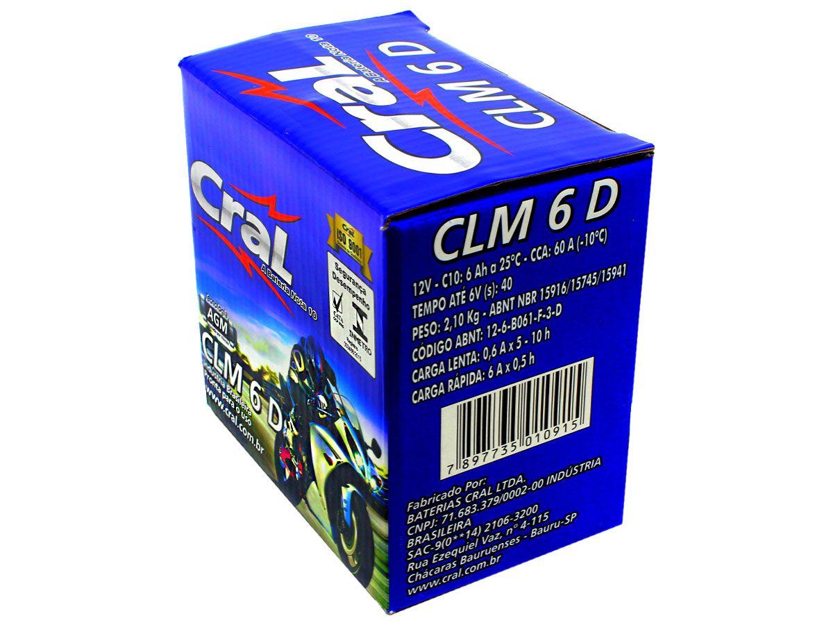 BATERIA BIZ100/BIZ125/POP100-110 ORIGINAL CRAL(CLM6D- YTZ6V)