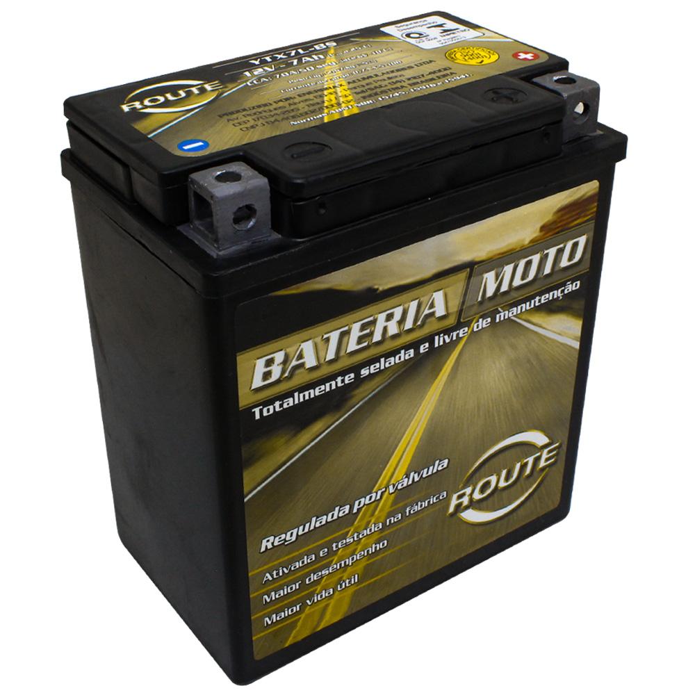 BATERIA DAFRA SPEED 150/ APACHE 150/ RIVA 150/ SUNDOWN MAX 125/ HUNTER 125/ STX 200 MOTARD (YTX7L-BS) ROUTE