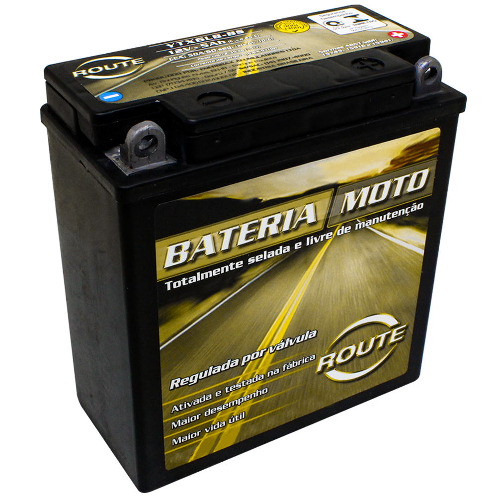 BATERIA DAFRA SUPER 100/ ZIG 110 / KASINSKI WIN 110/ KASINSKI WIN 110 (YTX6LB-BS) ROUTE