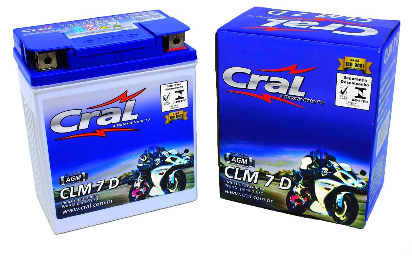 Bateria Fazer 250 / XTZ 250 Lander/Tenere 250 Original Cral(CLM7D-YTX7L-BS)