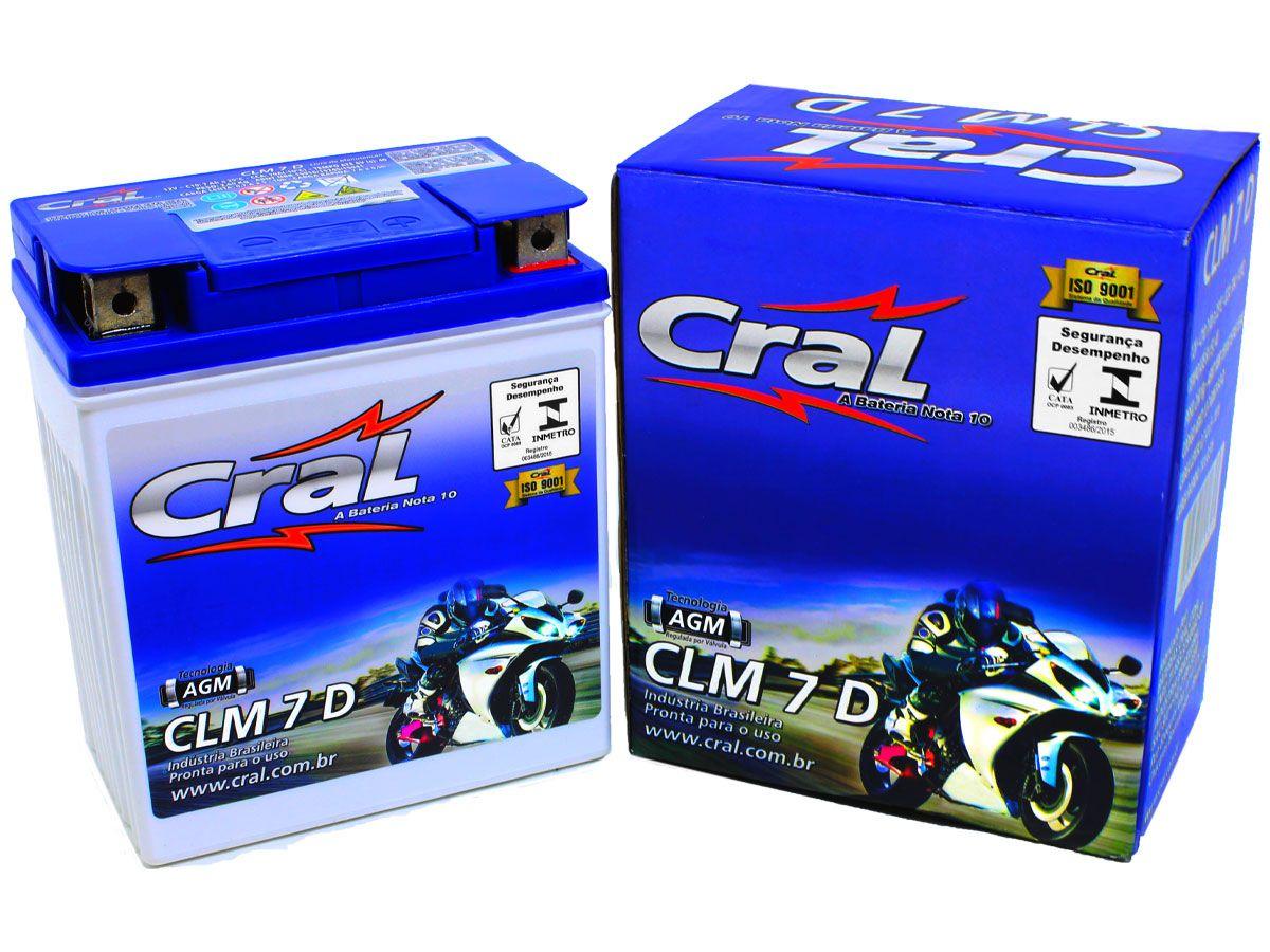 BATERIA HONDA CB300/ CBX 250 TWISTER/ XR 250 TORNADO ORIGINAL CRAL(CLM7D-YTX7L-BS)