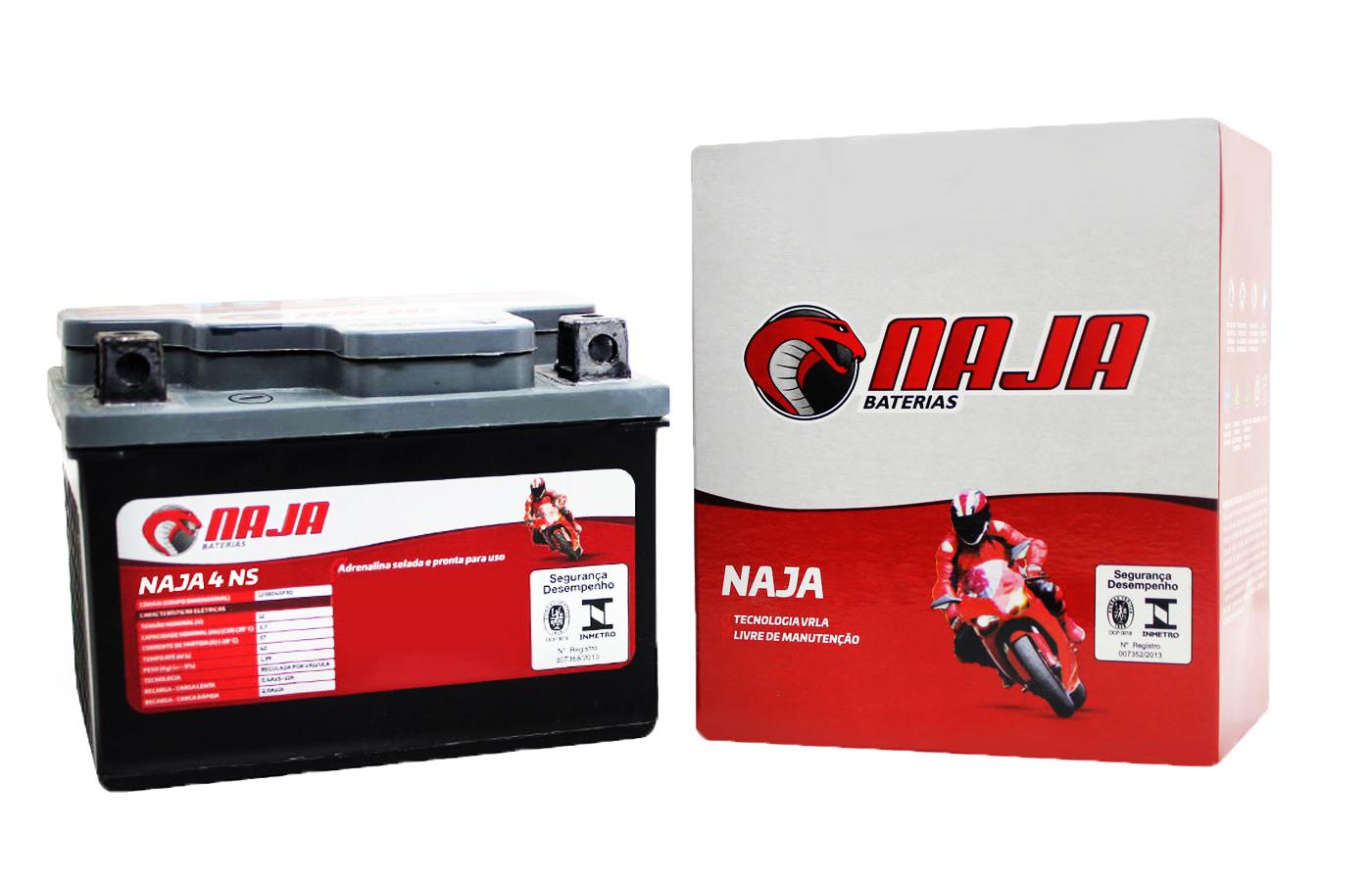 BATERIA KTM EXC 400 1999 A 2002 NAJA 4NS (YTX4L-BS)