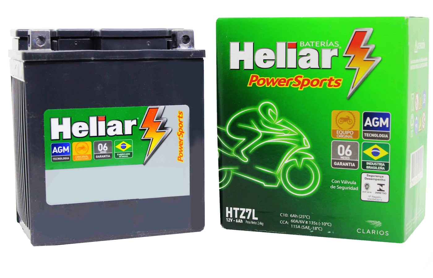 BATERIA NX 400 FALCON/ LEAD 110(SCOOTER)/ CBR 250 R HELIAR (HTZ7L-YTX7L-BS)