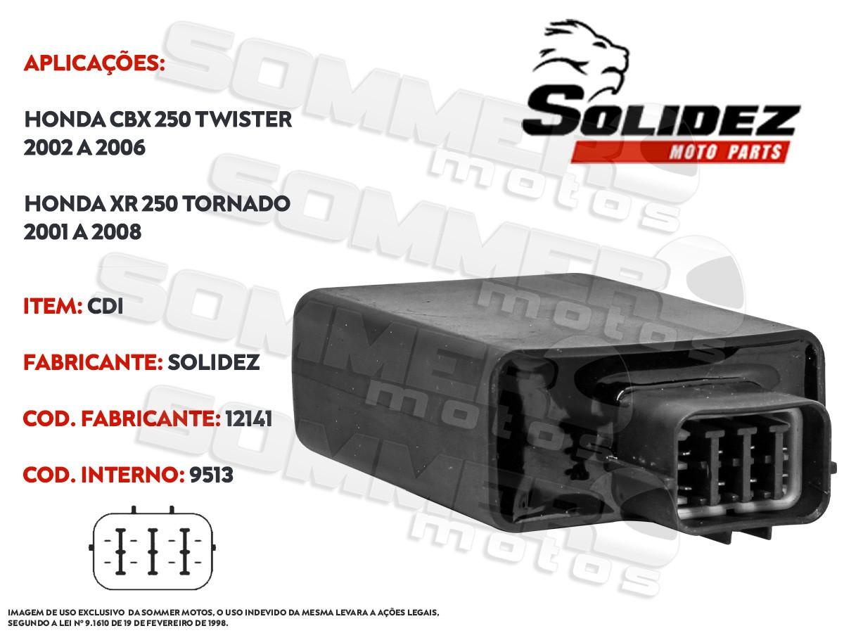 CDI HONDA XR 250 TORNADO 2001 A 2008 SOLIDEZ
