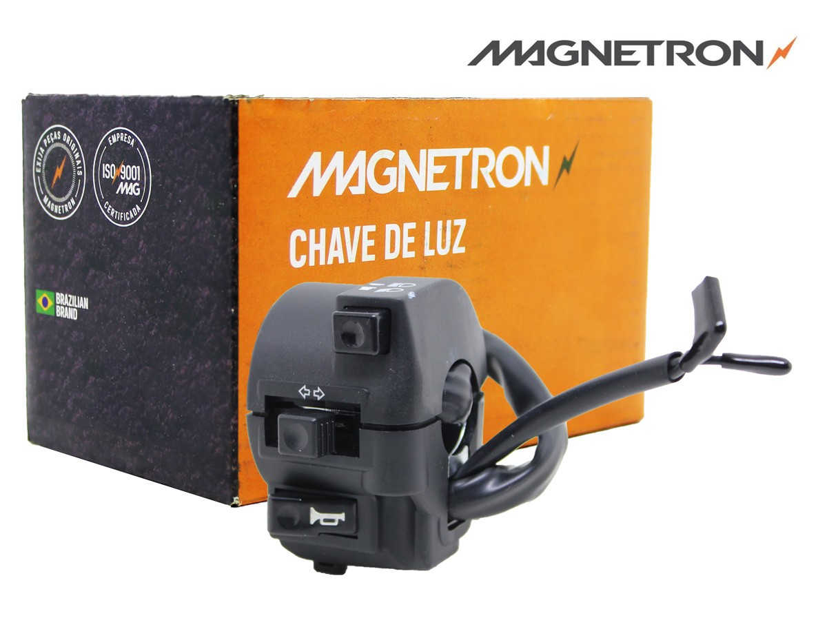 CHAVE-PUNHO DE LUZ HONDA NXR 150 BROS ES/ ESD/ KS MIX 2009 A 2014 MAGNETRON