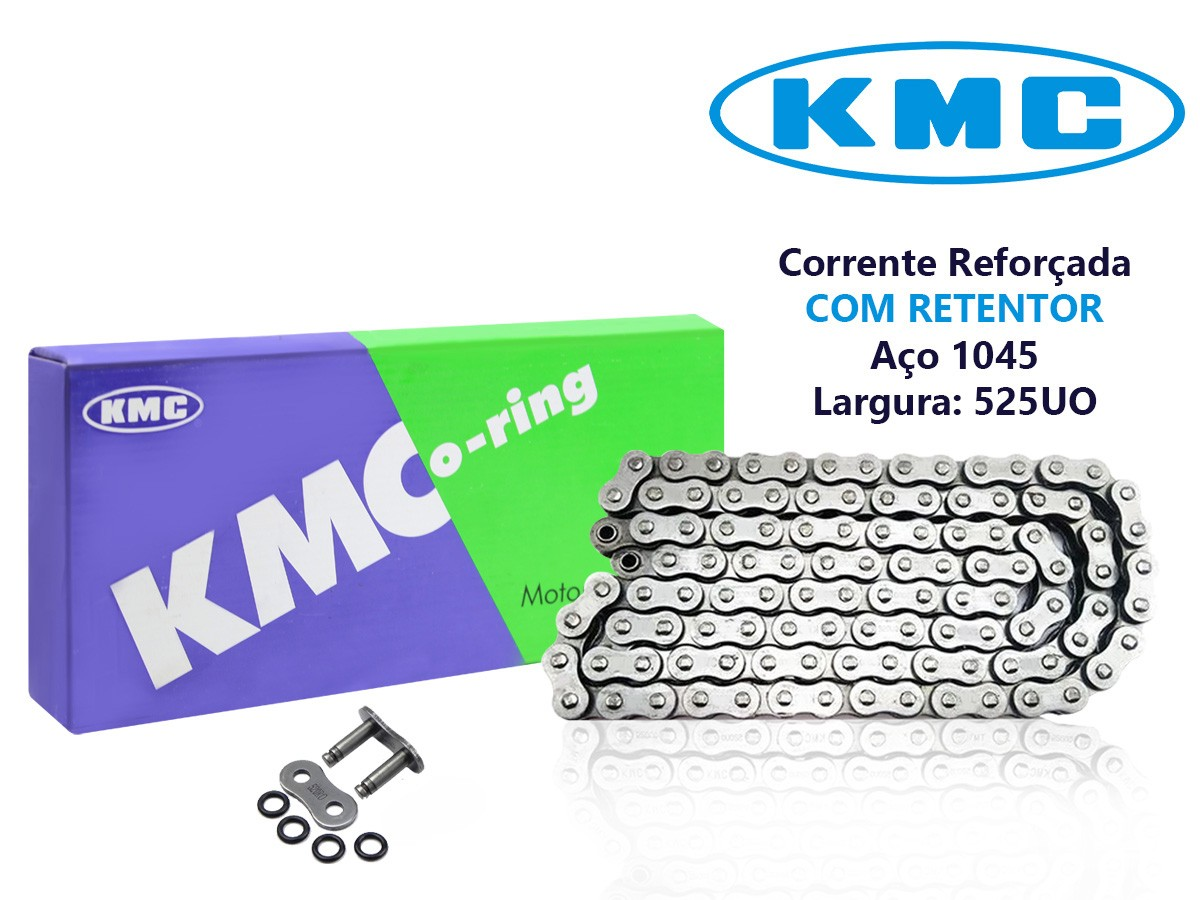 CORRENTE DE TRANSMISSÃO APRILIA 1000 RSV TUONO 2003 A 2005 525X108 COM RETENTOR KMC