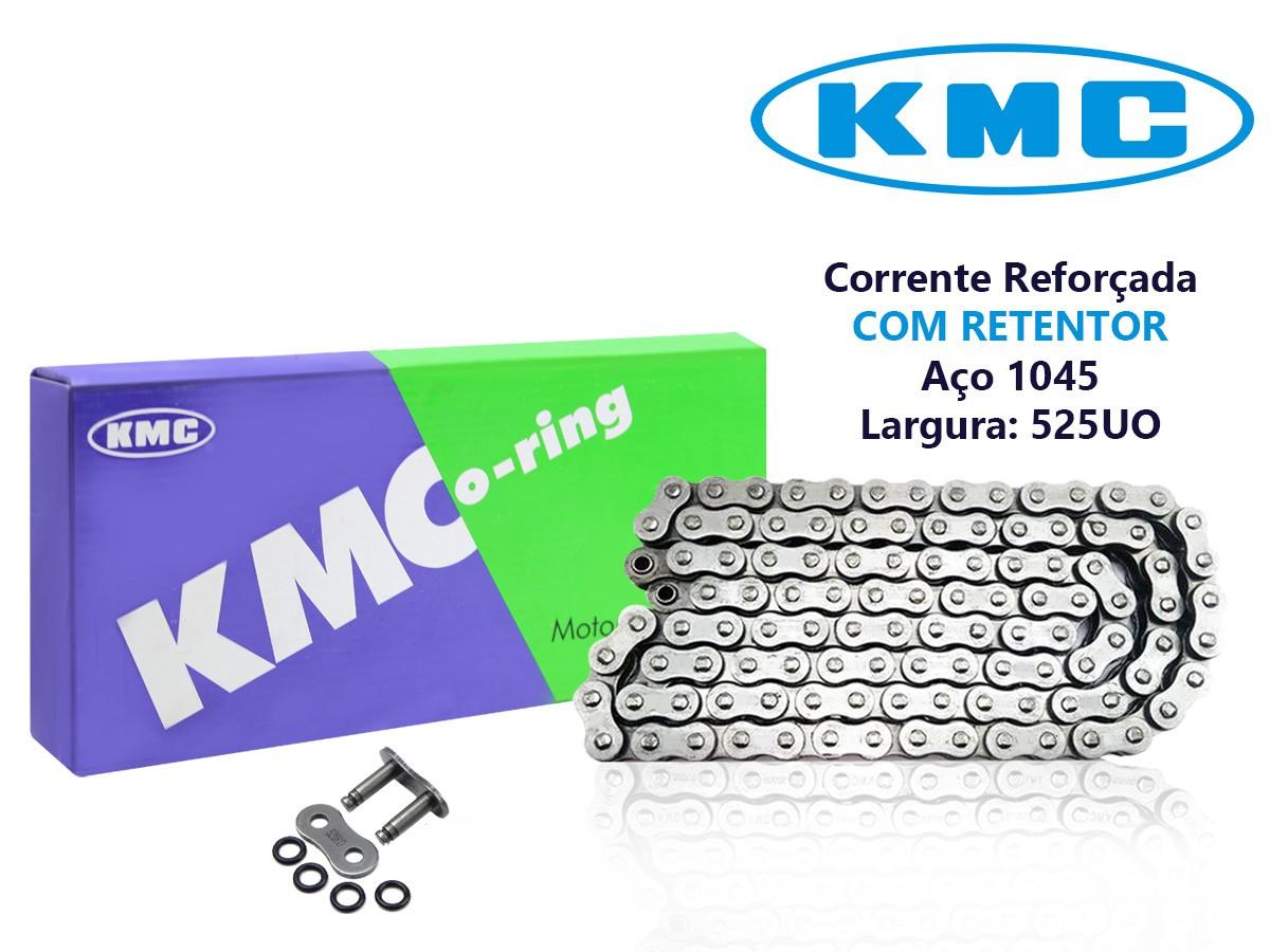 CORRENTE DE TRANSMISSÃO HONDA CBR 600F HORNET 1997 A 2007 525X120 COM RETENTOR KMC