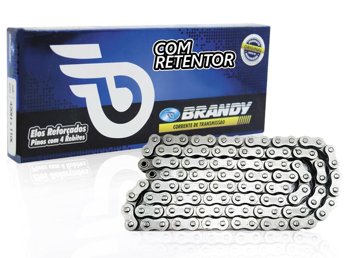 CORRENTE DE TRANSMISSÃO HONDA TITAN 150 SPORT 428X118 COM RETENTOR BRANDY