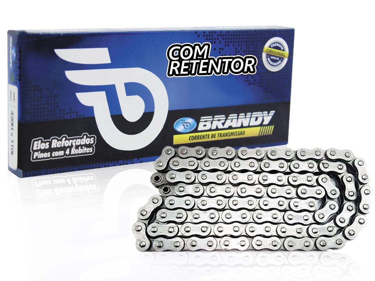 CORRENTE DE TRANSMISSÃO YAMAHA TDM 850 1991 A 1995 525X114 COM RETENTOR(ALTA PERFORMANCE) BRANDY