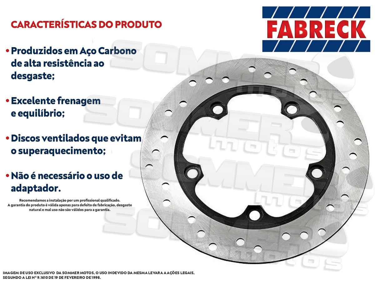 DISCO DE FREIO DIANTEIRO HONDA CBX 200 STRADA (TODOS OS ANOS) FABRECK