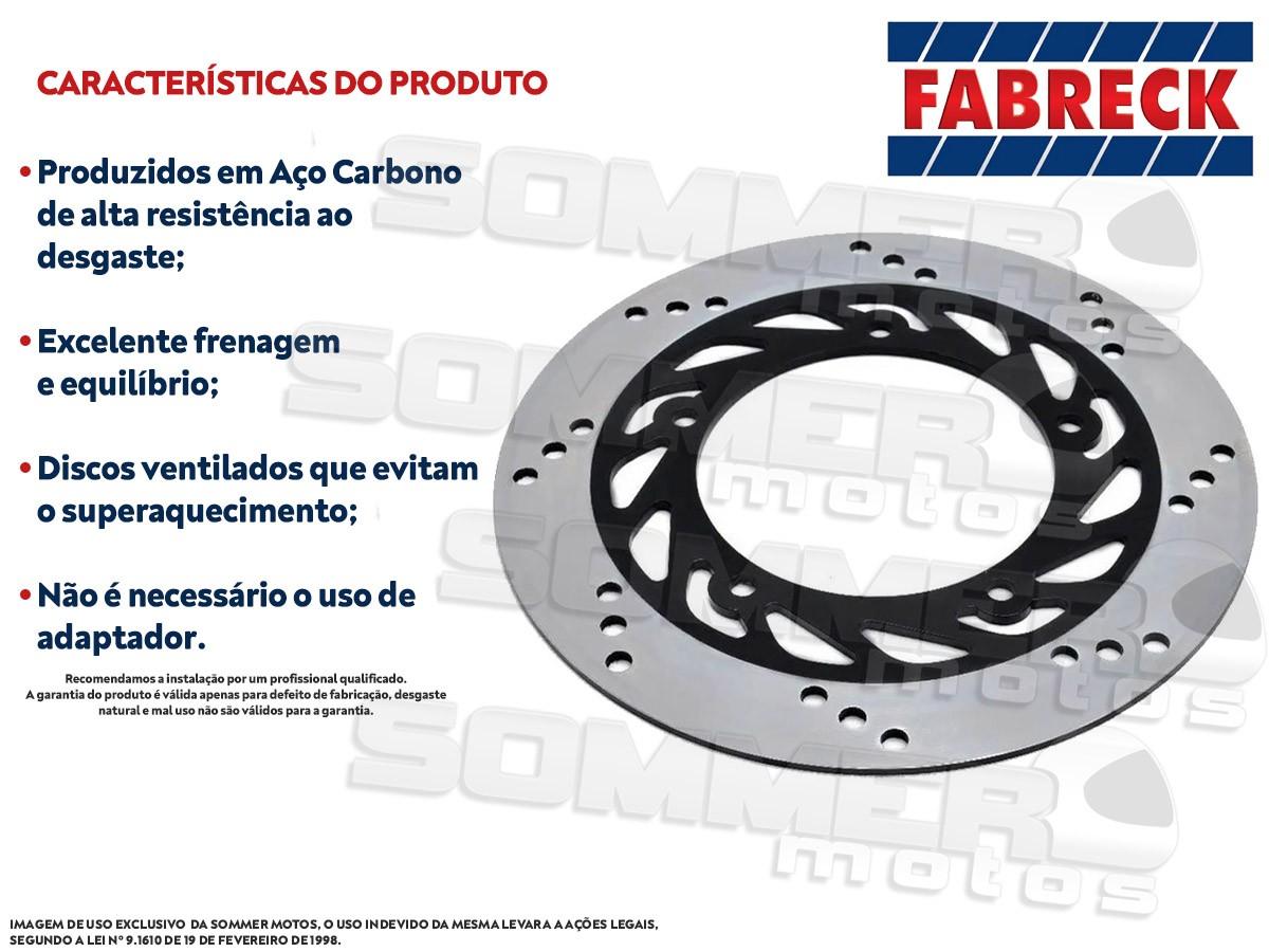 DISCO DE FREIO DIANTEIRO YAMAHA FACTOR 125/ FACTOR 150 (TODOS OS ANOS) FABRECK