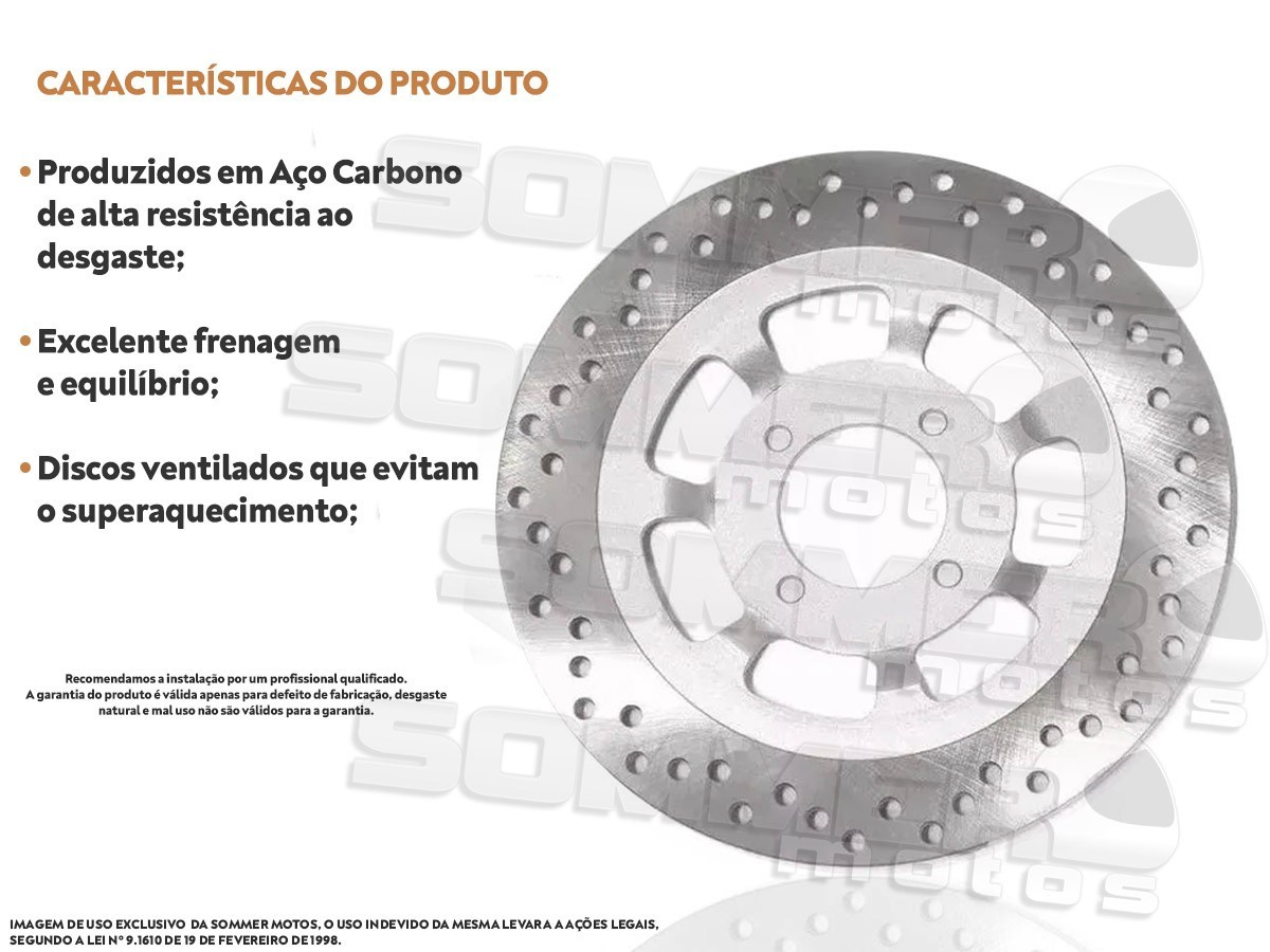 DISCO DE FREIO DIANTEIRO YAMAHA RDZ135 (TODOS OS ANOS) MAXX PREMIUM