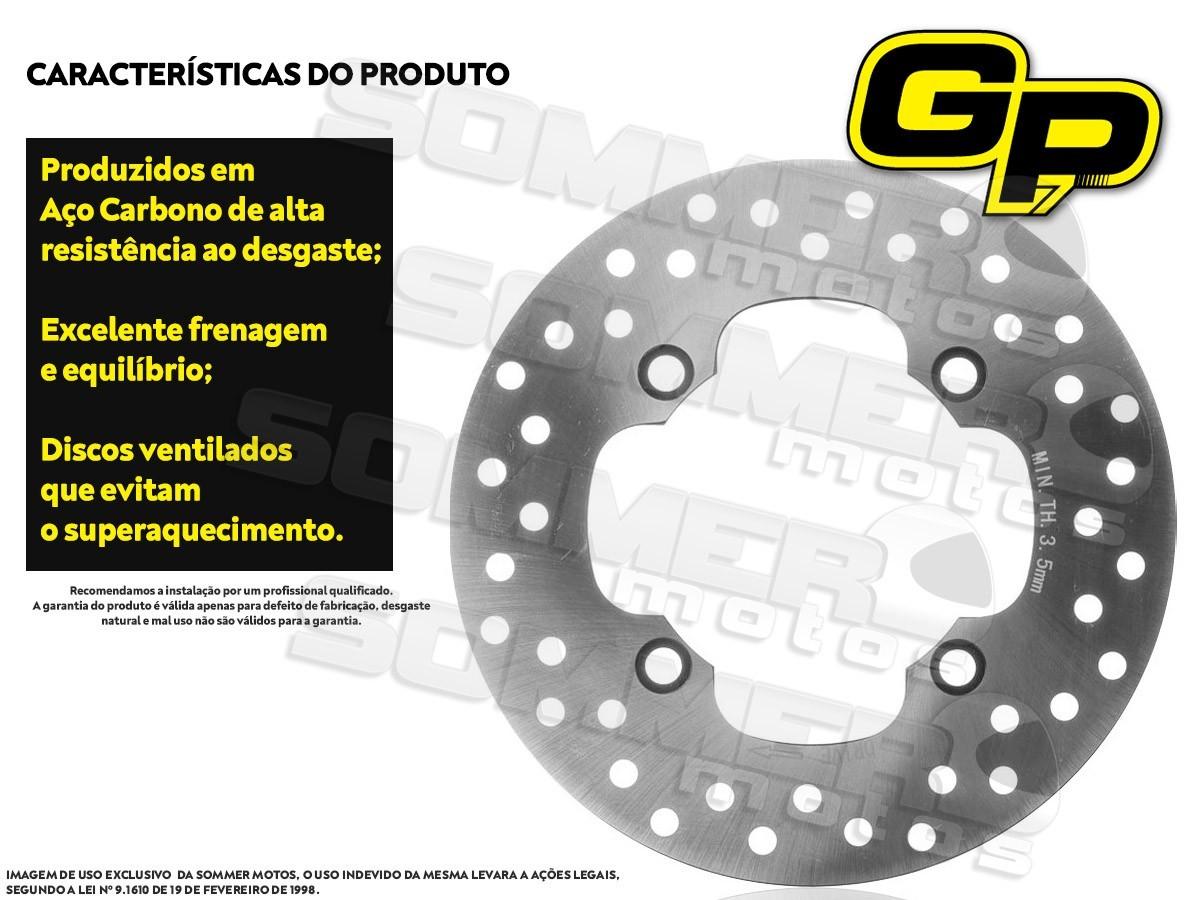 DISCO DE FREIO TRASEIRO HONDA NXR 160 BROS (TODOS OS ANOS) GP